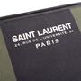 Authentic Second Hand Saint Laurent Stripe Canvas Zip Clutch (PSS-599-00034) - Thumbnail 4