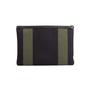 Authentic Second Hand Saint Laurent Stripe Canvas Zip Clutch (PSS-599-00034) - Thumbnail 2