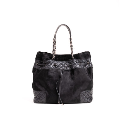 Authentic Second Hand Chanel Pony Quilted Drawstring Tote (PSS-B26-00004)