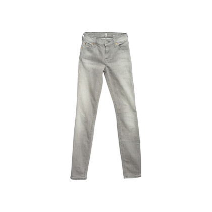 Authentic Second Hand 7 for all Mankind Grey Skinny Jeans (PSS-856-00178)