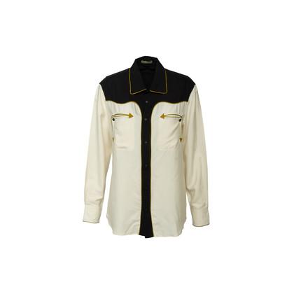 Authentic Second Hand Bottega Veneta Arrow Two Tone Silk Shirt (PSS-617-00129)