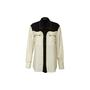 Authentic Second Hand Bottega Veneta Arrow Two Tone Silk Shirt (PSS-617-00129) - Thumbnail 0