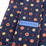 Authentic Second Hand Bulgari Navy Printed Silk Tie (PSS-A50-00141) - Thumbnail 2