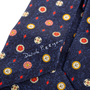 Authentic Second Hand Bulgari Navy Printed Silk Tie (PSS-A50-00141) - Thumbnail 3
