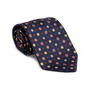 Authentic Second Hand Bulgari Navy Printed Silk Tie (PSS-A50-00141) - Thumbnail 4