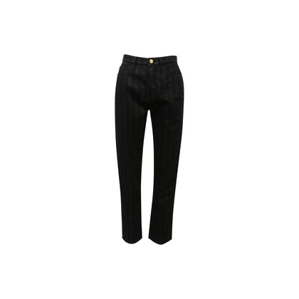 Authentic Second Hand Frame Sylvie Slender Striped Straight Jeans (PSS-637-00175)