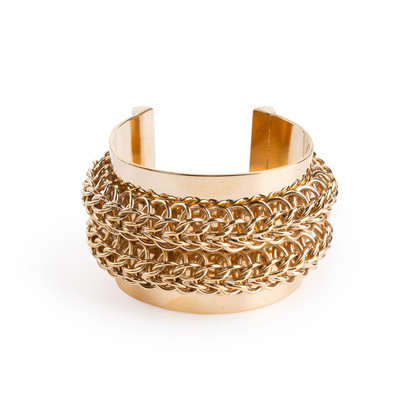 Authentic Second Hand Givenchy Chainlink Metal Cuff (PSS-017-00031)