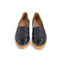 Authentic Second Hand Chanel Navy Leather Espadrilles (PSS-004-00137) - Thumbnail 0