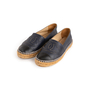 Authentic Second Hand Chanel Navy Leather Espadrilles (PSS-004-00137) - Thumbnail 2