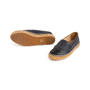 Authentic Second Hand Chanel Navy Leather Espadrilles (PSS-004-00137) - Thumbnail 4