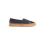 Authentic Second Hand Chanel Navy Leather Espadrilles (PSS-004-00137) - Thumbnail 1