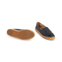 Authentic Second Hand Chanel Navy Leather Espadrilles (PSS-004-00137) - Thumbnail 5