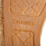 Authentic Second Hand Chanel Navy Leather Espadrilles (PSS-004-00137) - Thumbnail 9