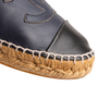 Authentic Second Hand Chanel Navy Leather Espadrilles (PSS-004-00137) - Thumbnail 7