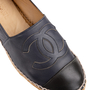 Authentic Second Hand Chanel Navy Leather Espadrilles (PSS-004-00137) - Thumbnail 6