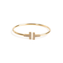 Authentic Second Hand Tiffany & Co T Diamond Wire Bracelet (PSS-094-00037) - Thumbnail 0