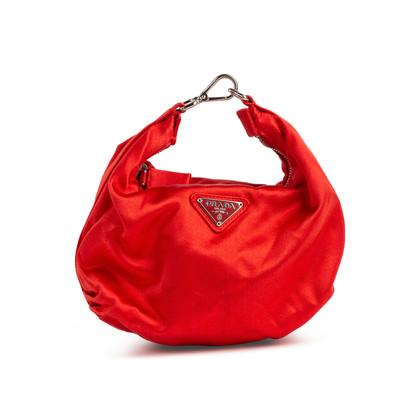 Authentic Second Hand Prada Satin Mini Hook Bag (PSS-139-00048)