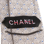 Authentic Second Hand Chanel CC Grey Silk Tie (PSS-B28-00019) - Thumbnail 2