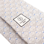 Authentic Second Hand Chanel CC Grey Silk Tie (PSS-B28-00019) - Thumbnail 3