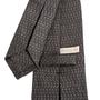 Authentic Second Hand Bulgari Muse Delle Arti Grey Silk Tie (PSS-B28-00022) - Thumbnail 2