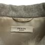 Authentic Second Hand Prada Grey Wool Empire Dress Coat (PSS-B70-00004) - Thumbnail 2