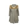 Authentic Second Hand Prada Grey Wool Empire Dress Coat (PSS-B70-00004) - Thumbnail 0