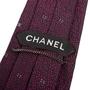 Authentic Second Hand Chanel CC Purple Silk Tie (PSS-B28-00023) - Thumbnail 2