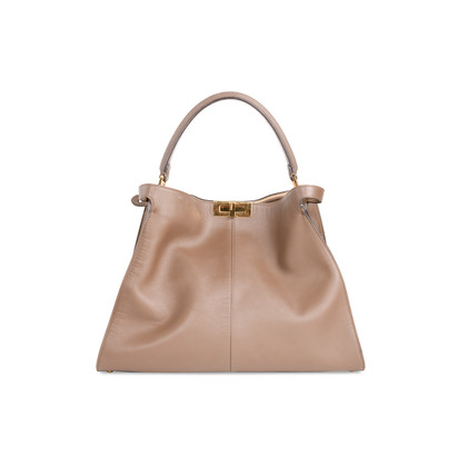 Authentic Second Hand Fendi Brown Peekaboo X-Lite Large Bag (PSS-A46-00029)