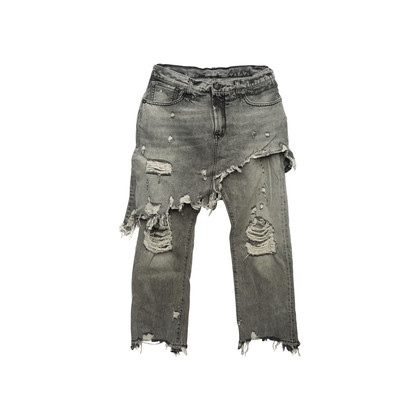 Authentic Second Hand R13 Double Classic Distressed Skirted Jeans (PSS-444-00058)