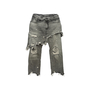 Authentic Second Hand R13 Double Classic Distressed Skirted Jeans (PSS-444-00058) - Thumbnail 0