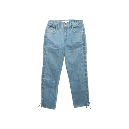 Authentic Second Hand Jonathan Simkhai Braided Lace-Up Jeans (PSS-444-00059)