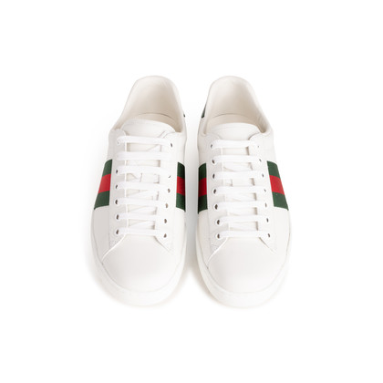 Authentic Second Hand Gucci Ace Leather Sneakers (PSS-B23-00006)