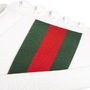 Authentic Second Hand Gucci Ace Leather Sneakers (PSS-B23-00006) - Thumbnail 9