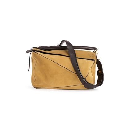 Authentic Second Hand Loewe Suede Medium Puzzle Bag (PSS-B79-00002)