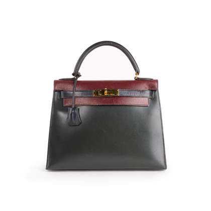 Authentic Second Hand Hermès Tri-Colour Kelly 28 Bag  (PSS-B79-00011)