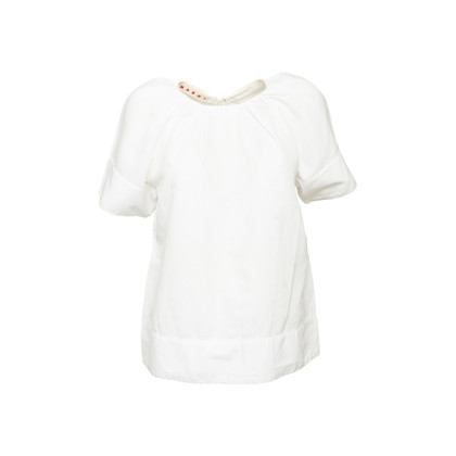 Authentic Second Hand Marni Gathered Cotton Blouse (PSS-561-00094)