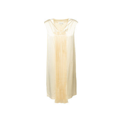 Authentic Second Hand Maison Martin Margiela Pleated Front Satin Dress (PSS-561-00123)