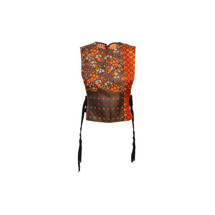 Authentic Second Hand Maison Martin Margiela Jacquard Tie Wrap Top (PSS-561-00105)