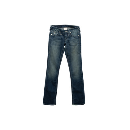 Authentic Second Hand True Religion Diamond Studded Straight Cut Jeans (PSS-A44-00039)