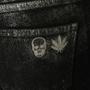 Authentic Second Hand Lucien Pellet-Finet Black Metallic Sheen Jeans (PSS-B65-00058) - Thumbnail 2