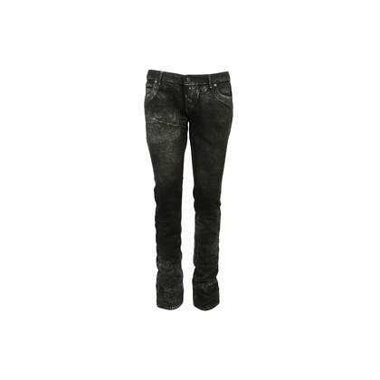 Authentic Second Hand Lucien Pellet-Finet Black Metallic Sheen Jeans (PSS-B65-00058)