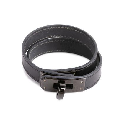 Authentic Second Hand Hermès So Black Kelly Double Tour Bracelet (PSS-613-00068)