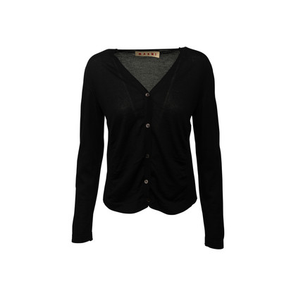 Authentic Second Hand Marni Gathered Cashmere Cardigan (PSS-145-00451)