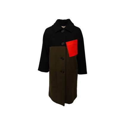 Authentic Second Hand Marni Colourblock Wool Coat (PSS-145-00466)