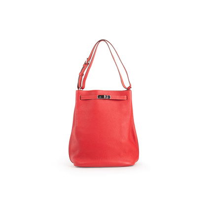 Authentic Second Hand Hermès So-Kelly Rouge Garance Clemence 26 (PSS-474-00030)