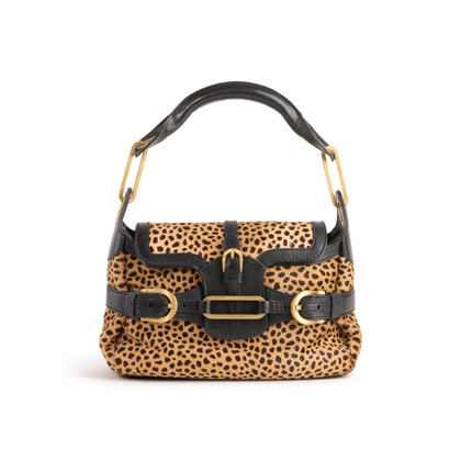 Authentic Second Hand Jimmy Choo Animal Print Calf Hair Shoulder Bag (PSS-145-00476)