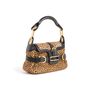 Authentic Second Hand Jimmy Choo Animal Print Calf Hair Shoulder Bag (PSS-145-00476) - Thumbnail 1