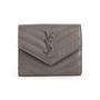 Authentic Second Hand Saint Laurent Monogram Quilted Wallet (PSS-831-00019) - Thumbnail 0