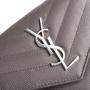 Authentic Second Hand Saint Laurent Monogram Quilted Wallet (PSS-831-00019) - Thumbnail 7