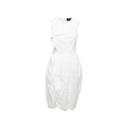 Authentic Second Hand Simone Rocha Tie Detail Broderie Anglaise Dress (PSS-249-00068)